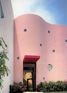 Dirty Pink Obsession: Arquitectonica's Casa Andes, Lima, Peru. via the improvised life