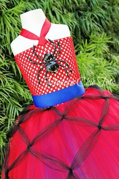 Spiderman Spidergirl Tutu Dress Halloween Costume
