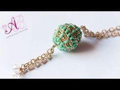 ▶ DIY Tutorial Agape Bead (beaded bead) + Auguri di Natale con la mia brutta faccia :p - YouTube