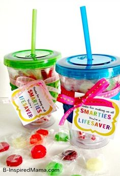 Smarties and Lifesavers Candy Teacher Appreciation Gift with free Printables