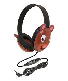Loving this Brown Bear Headphones on #zulily! #zulilyfinds