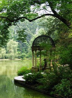 garden follies, quiet place, secret garden, garden water, folly garden, longwood gardens, lakeside garden, garden folly, peaceful garden