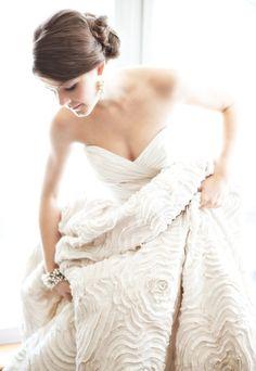 Amsale wedding dress.