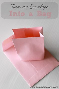 Turn an Envelope into a Bag Tutorial