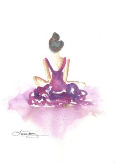 Dancer in Watercolor by lauratrevey on Etsy, $18.00