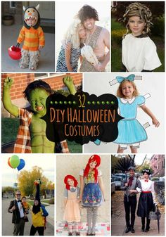 32 DIY Halloween Costumes - Cute and creative DIY costumes for Adult, Kids, and Families!! { lilluna.com } #halloween