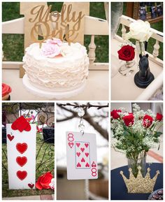 Queen of Hearts 1st birthday party with Lots of Really Cute Ideas via Kara's Party Ideas! full of decorating ideas, dessert, cake, cupcakes, favors and more! KarasPartyIdeas.com #queenofhearts #mollyschicboutique #aliceinwonderland #queenofheartsparty #firstbirthday #partyplanning #partystyling #partyideas #partydecor #eventstyling (2)