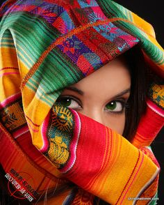 afghans, color art, aphrodite, coloring, green eyes, beauty, veil, rainbow, bright colors