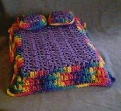 Crochet Patterns Queen Size Bed : Crocheted Doll Furniture and Clothes on Pinterest