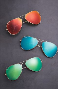 Ray-Ban 58mm Aviator Sunglasses. Tint colors are way cute!!