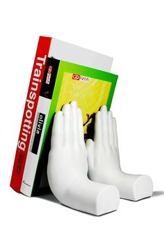 """Stop"" Hand Bookend"