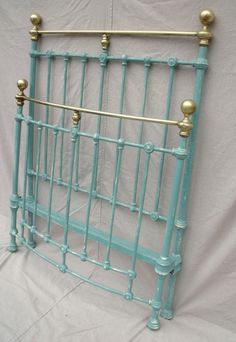 Antique iron beds on pinterest panel bed wrought iron for How to paint a metal bed frame