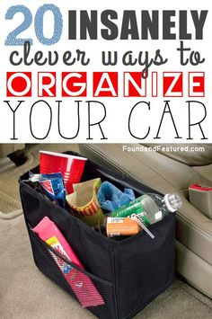 Car Organization Tips :: Some great ideas in here! diyncrafts.com