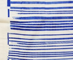 naniIRO fabric Blue Stripe