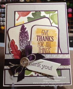 Stampin Up Give Thanks for All Things card #stampinup