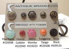 Embossed antique brads 1