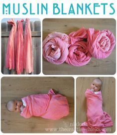 Instructions on how to make the popular muslin swaddle blankets for much less than buying them! #muslin #swaddle #blanket #baby