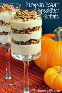 Maple Pumpkin Pie Yogurt Breakfast Parfait