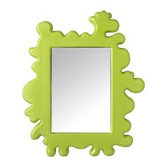 Add pops of green with this funky mirror