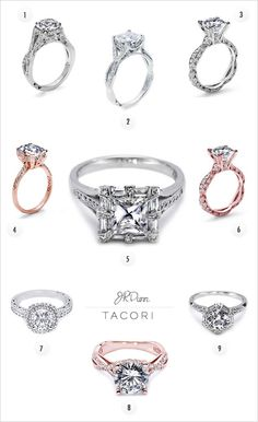 Some of our favorite Tacori Rings