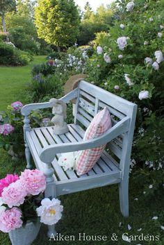 Aiken House & Gardens: Looking Back at the Garden Garden Bench