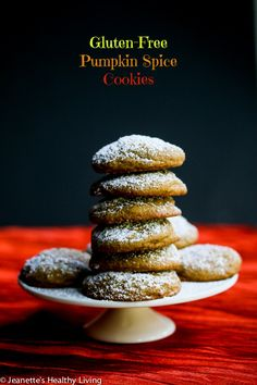 Gluten-Free Pumpkin Cookies for Cancer © Jeanette's Healthy Living #glutenfree #cookies #oxogoodcookies #dessert #cleaneating #healthyeating #cookie4kids #almondflour #pumpkin