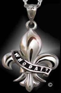 Fleur-de-lis pendant logo of the New Orleans Saints Football Team