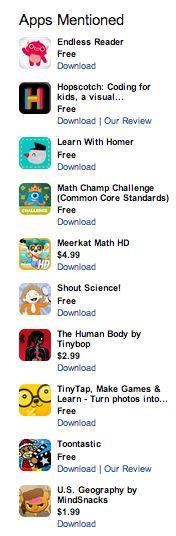 10 Best Educational Apps of 2013 https://www.appolearning.com/advisor/articles/227-the-10-best-educational-apps-of-2013