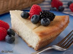 Berry Trio Cheesecake Pie - A refreshing treat during the summer, this easy cheesecake recipe is a dessert that'll turn heads at the dinner table.