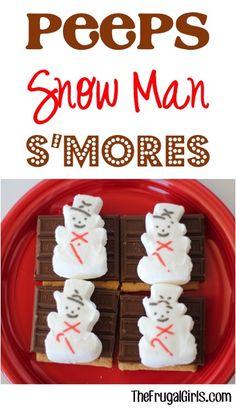 Peeps Snowman Smore