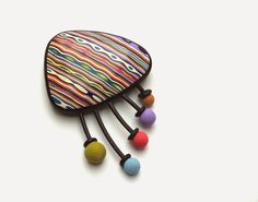 Polymer Clay Cheerful Brooch Tutorial by LUCY Struncova