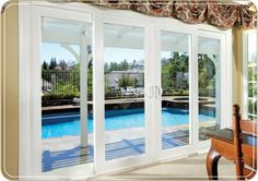 sliding french doors No panes