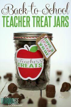 Back-to-School Teacher Treat Jars | TheTurquoiseHome.com