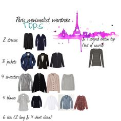 """Paris Minimalist Wardrobe"" by lasarita on Polyvore"