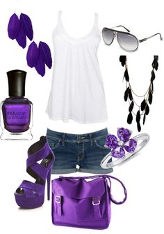Purple n Feathers, created by malmae on Polyvore