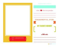 Free Printable for Grandparents Day