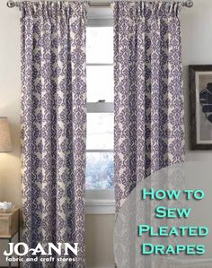 How to Sew Pleated Drapes | #DIY Home Decor Idea | Click through for full directions | Find more Home Decor Ideas on Joann.com