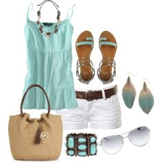 """#lookbook """"summer outfit"""" by bonnaroosky on Polyvore"""