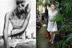 White crochet dress inspired by Nicole Miller.