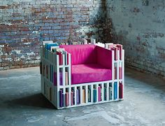 Chair that stores 300 books