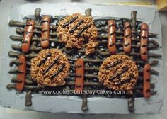 Homemade BBQ Charcoal Grill Cake
