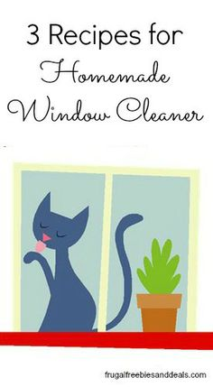 Ever been out of cleaning supplies just when you need them?  Or maybe you simple want to cut down on chemicals in your home. How about trying out some Homemade Window Cleaner?  I really like my them.. They work great.