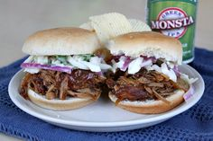 Slow Cooker Pulled Pork Sliders with Bourbon- Peach Barbecue Sauce   Recipe Girl