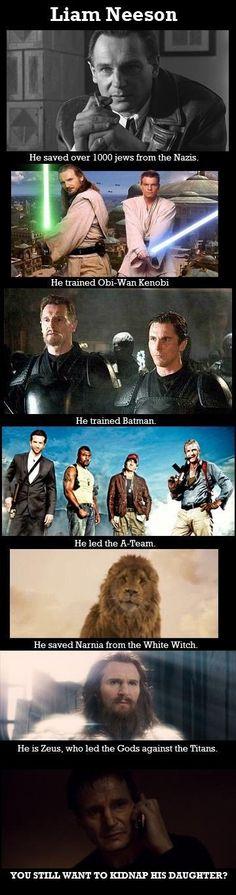 Bahahaha. Just how awesome is Liam Neeson?