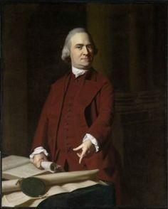 "John Singleton Copley ""Samuel Adams."" Museum of Fine Arts, Boston."