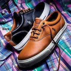 Polo Ralph Lauren Men's Leather Sneaker $75.00