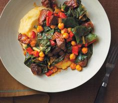 25-Minute Lamb and Chickpea Ragù With Polenta recipe
