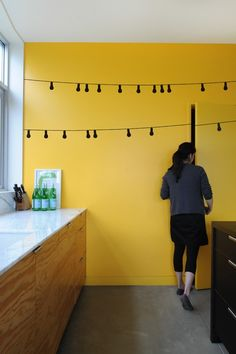 idea, wall lamps, cafe light, wall decals, string lights, hous, kitchen, wall stickers, yellow walls
