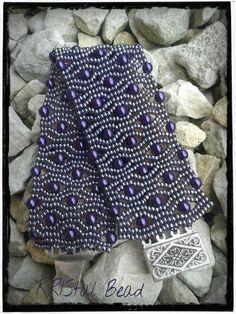 Alveoline bracelet - Free pattern! - via @Craftsy