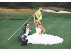 Celebrating the beginning of the rest of their lives out on the putting green at Pelican Hill | www.pelicanhill.com |The Resort at Pelican Hill, Newport Beach, CA | #pelicanhill #marriage #memories